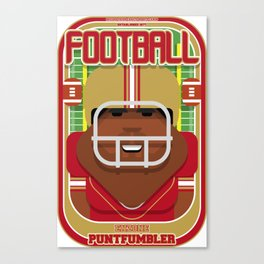 American Football Red and Gold - Enzone Puntfumbler - Hayes version Canvas Print