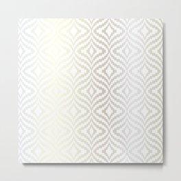 Silver Bargello Geometric Metal Print