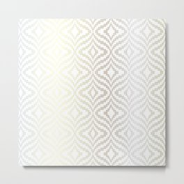 Silver Bargello Geometric Metal Print