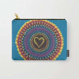 Flaming Heart Carry-All Pouch
