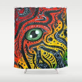 Eye of Africa Shower Curtain