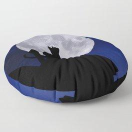 Moon Cat Floor Pillow