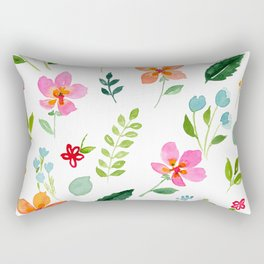 All Things Bright - White Rectangular Pillow