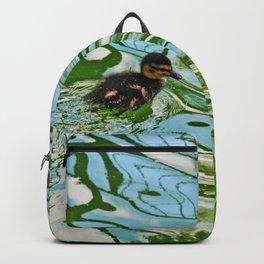 Mallard duckling swimming Backpack