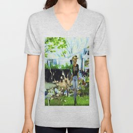 Wendy's Farm In Tennessee Unisex V-Neck