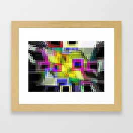 Cubism interdimensional. Framed Art Print