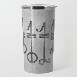 Svefnthorn symbol - metallic texture Travel Mug