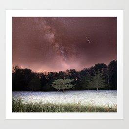 Milky Way Meteor Field Art Print