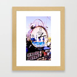 Watch marques not hours. Framed Art Print