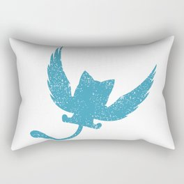 A Small Exceed of Fairy Tail Anime - Blue Happy Rectangular Pillow
