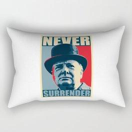 Never Surrender Rectangular Pillow