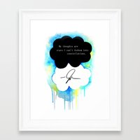 fault in our stars Framed Art Prints featuring The Fault in Our Stars by Awful Artist