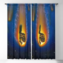 Burning out Blackout Curtain
