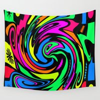 psychedelic Wall Tapestries featuring Psychedelic by Michael P. Moriarty