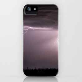 Summer Lightning Storm On The Prairie VI - Nature Landscape iPhone Case