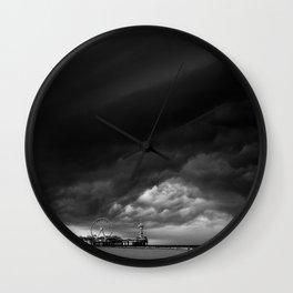 Dutch Clouds - Scheveningen, The Netherlands Wall Clock