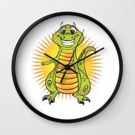 Floss Dance Move T-Rex Wall Clock