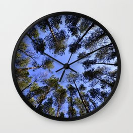 Trees Sky Wall Clock