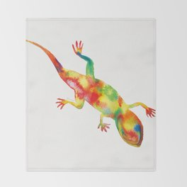 Mr. Lizard 1 Throw Blanket