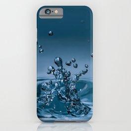 Splashing water drops causing wavy water surface iPhone Case