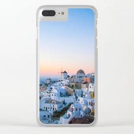 suset in Santorini Clear iPhone Case