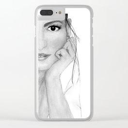 Retrato en acuarela Clear iPhone Case