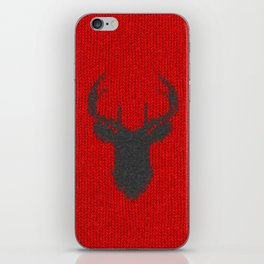 Antiallergenic Hand Knitted Deer Winter Wool Texture - Mix & Match with Simplicty of life iPhone Skin