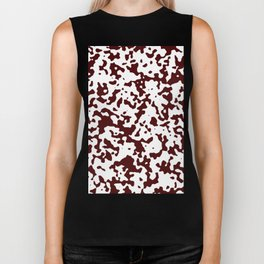Spots - White and Bulgarian Rose Red Biker Tank