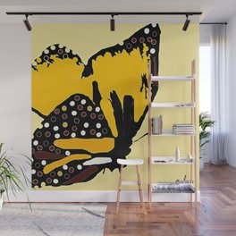 Yellow Butterfly Wall Mural
