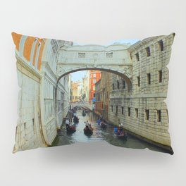 Bridge of Sighs, Venice, Italy,  in the late afternoon sun. Pillow Sham