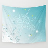 unicorn Wall Tapestries featuring UNICORN by ARCHIGRAF