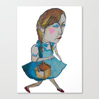 shopping Canvas Prints featuring shopping by mayubonne
