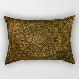 Lime Brown Boho Mandala || Manafold Art Rectangular Pillow