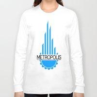 metropolis Long Sleeve T-shirts featuring Metropolis by junaputra