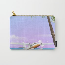 Cook Islands vintage beach poster. Carry-All Pouch