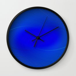 Electric Blue Swirl Wall Clock