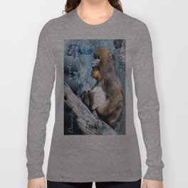 Zen Meditating Mandrill Long Sleeve T-shirt