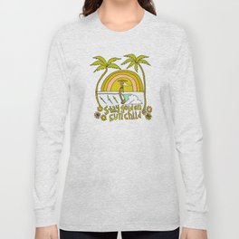 stay golden sun child //retro surf art by surfy birdy Long Sleeve T-shirt