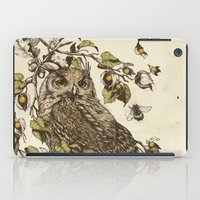 moth iPad Cases featuring Great Horned Owl by Teagan White