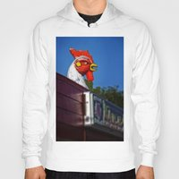 scary Hoodies featuring Scary Chicken by Mark Alder