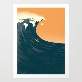 Surfing the World Art Print