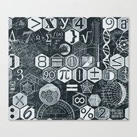 math Canvas Prints featuring Math Class by Chicca Besso