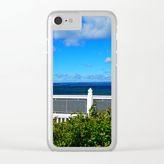 Shoreline Fence Clear iPhone Case