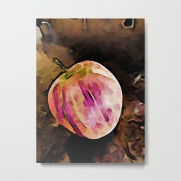 Still Life with a Pink Apple Metal Print