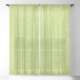 My Flower Design 4 Sheer Curtain