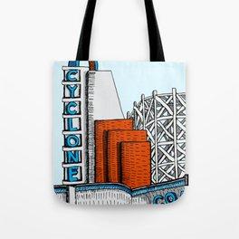 Cyclone Coaster (Lakeside Amusement Park) Tote Bag