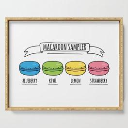 Rainbow Macaroon Sampler Serving Tray
