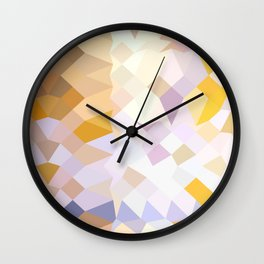 Hansa Yellow Abstract Low Polygon Background Wall Clock