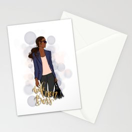 Wife Mom Boss | African American Lady Boss Stationery Cards
