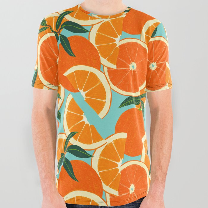Orange_Harvest__Blue_All_Over_Graphic_Tee_by_Leanne_Simpson__Large